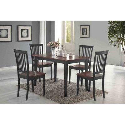 Wildon Home Eagar Piece Dining Set Reviews Wayfair - Wayfair black dining table