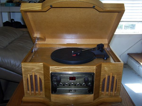Wood Philco Turntable CD With Cassette Capital Record Player Vintage
