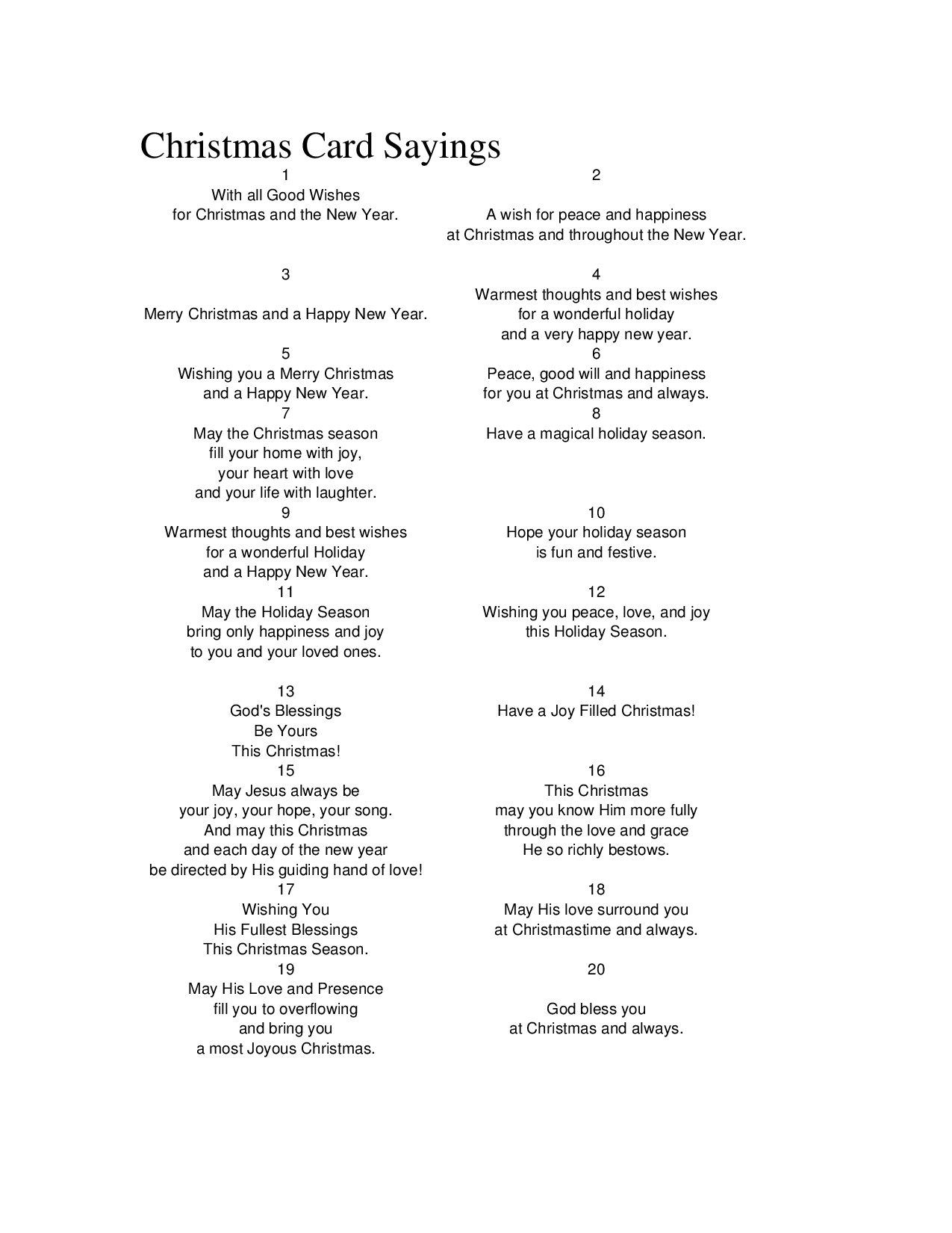 Christmas Greeting Card Verses and Sentiments - Funny Pictures ...