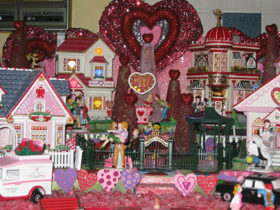 Dept 56 Valentines Day Village Display 2011 Celebrate Love