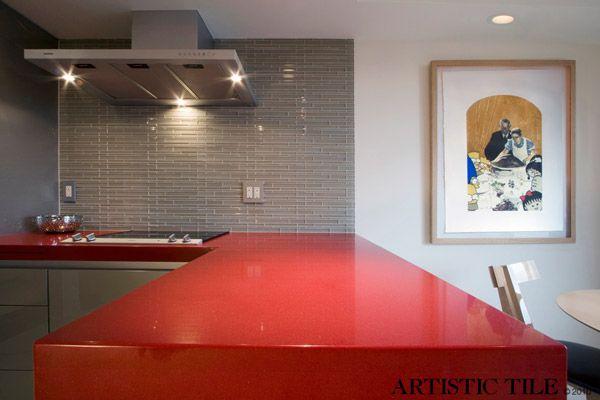 Red Counter Tops Kitchen Tiles Kitchen Tiles Design Artistic Tile