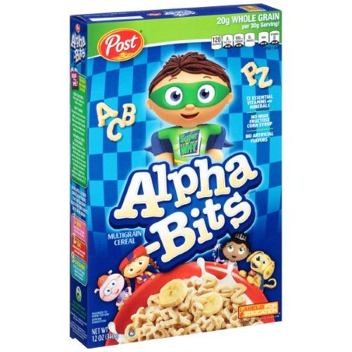 Post Alpha-Bits Cereal, 12 Ounce Boxes