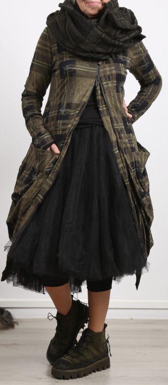 rundholz black label mantel mit rei verschluss und taschen gemustert 004 winter 2018 my. Black Bedroom Furniture Sets. Home Design Ideas