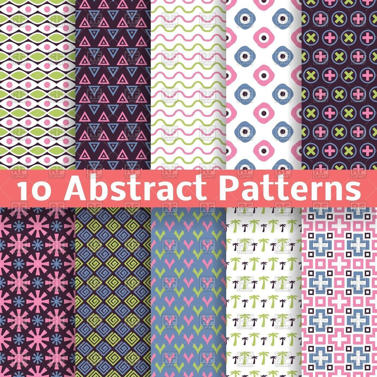 Geometric abstract patterns in vintage style vector image u vector