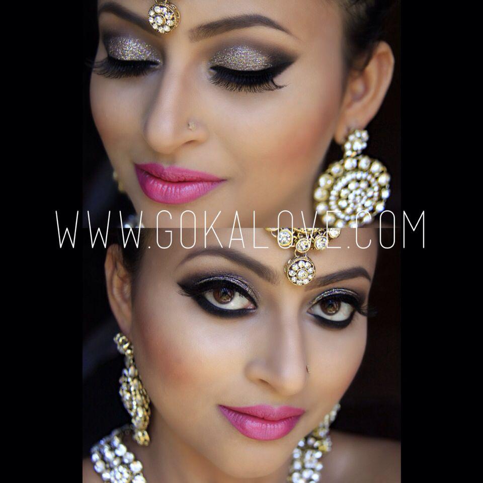 Silver Grey And Black Eye Makeup Indian Stani Wedding Bridal Boston
