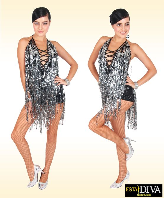e339894c Salsa Dress - Sexy Salsita: Sequin Fringe Dress - Custom-Made ...