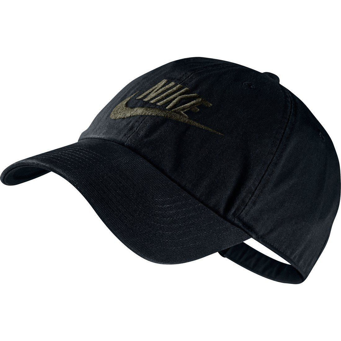 Hats 45230  Nike Futura Washed Heritage 86 Baseball Cap Black Olive Green  (Ws) -  BUY IT NOW ONLY   32 on eBay! 23a6760dbd5
