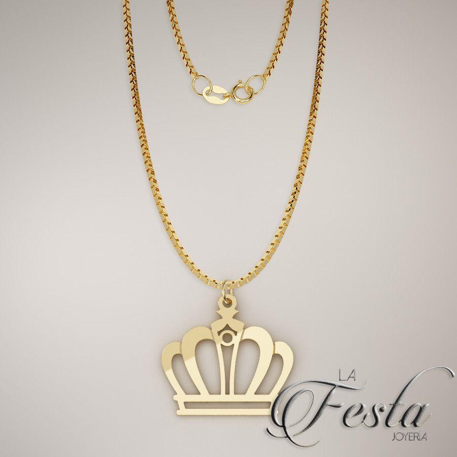 protesta escribir grosor  Para tu persona especial. Dije de corona en oro de 10K. facilidades de  pago, contáctanos por whatsapp al n… | Queen jewelry, Jewelry design  necklace, Chains jewelry