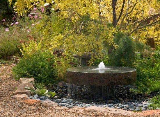 Attirant Naturstein Brunnen Garten Wasserrad