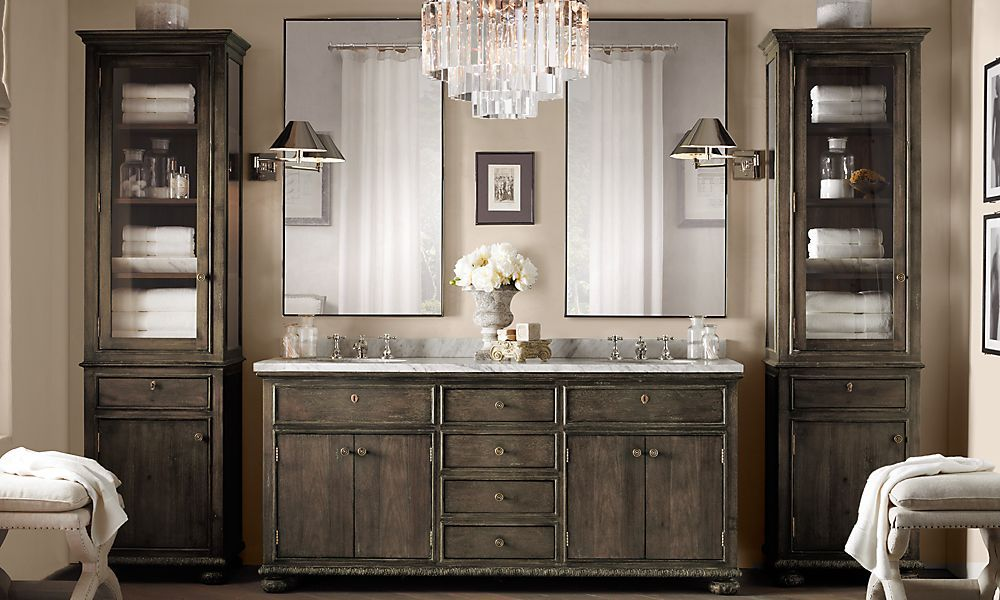 Vanity Restoration Hardware Love This Color Home Pinterest Colors For Bathrooms Love