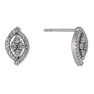 Sterling Silver Diamond Illusion Stud Earrings http://pixiie.net/shop/category/earrings/
