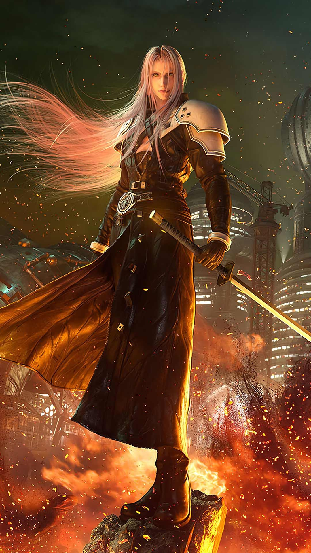 Final Fantasy 7 Remake Wallpaper Hd Phone Backgrounds Ps4 Game Art Poster Logo On Iphone Android Final Fantasy Sephiroth Tifa Final Fantasy Final Fantasy Art