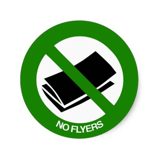 no flyers sign classic round sticker no junk mail junk mail