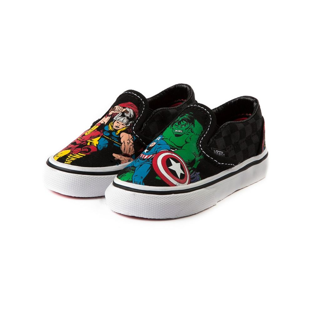 8e9a2a780d Toddler Vans Slip-On Avengers Skate Shoe