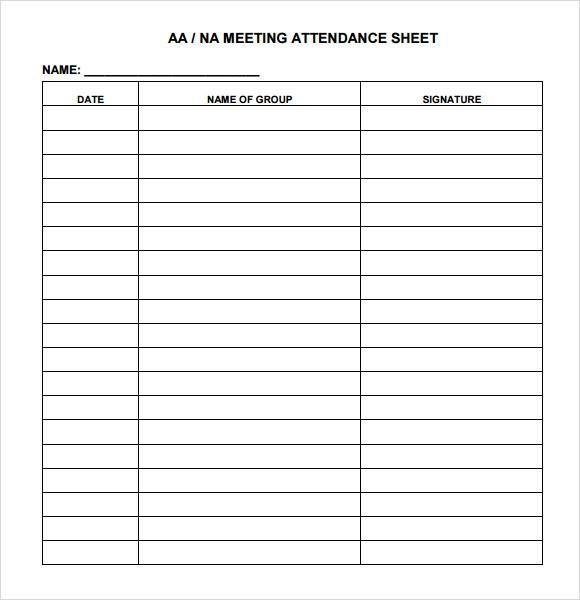 Meeting Attendance Sheet Template Attendance Sheet Sign In Sheet Template Attendance Sheet Template