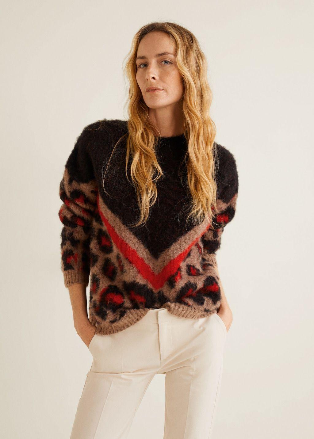 BROWN Leopard print sweater  MSGM  Cardigans