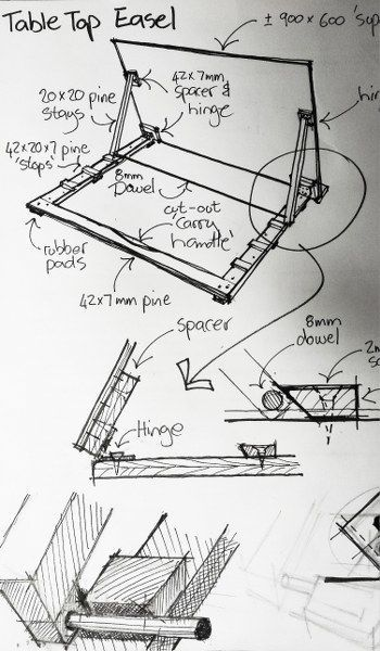Photo of Lightweight Portable Table-Top Artists Easel
