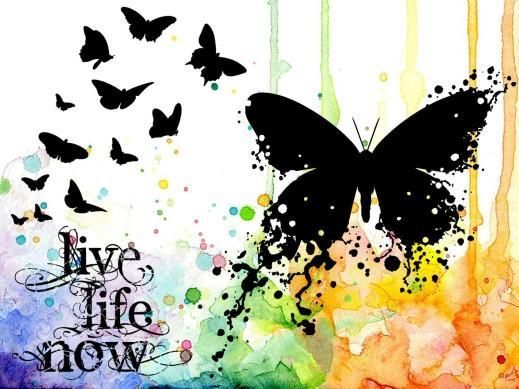 Visible Image - Live Life Now Stamp