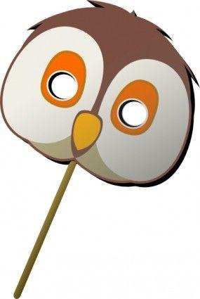 Free vector >>Vector clip art >>Owl Mask clip art