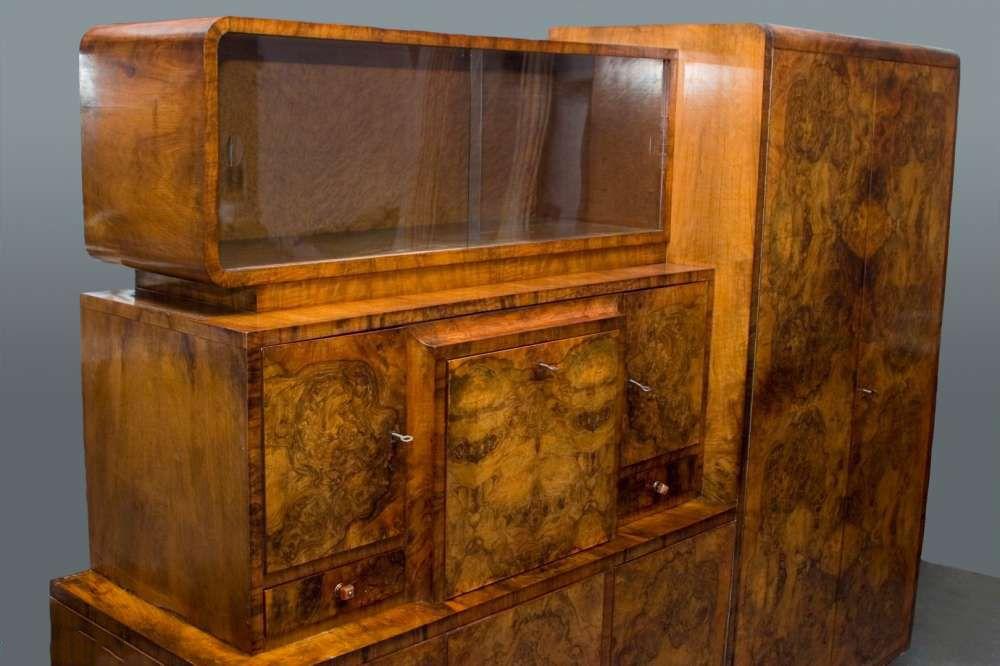 Art Deco Vitrine Bar komode Sideboard Schrank in Antiquitäten ...