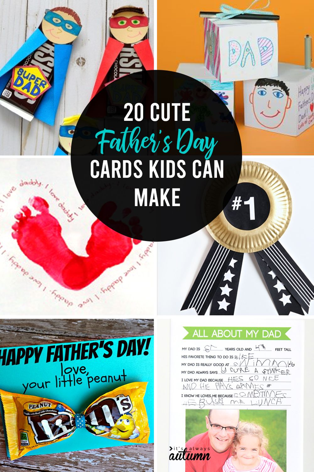 20 adorable fathers day card ideas for kids to make it