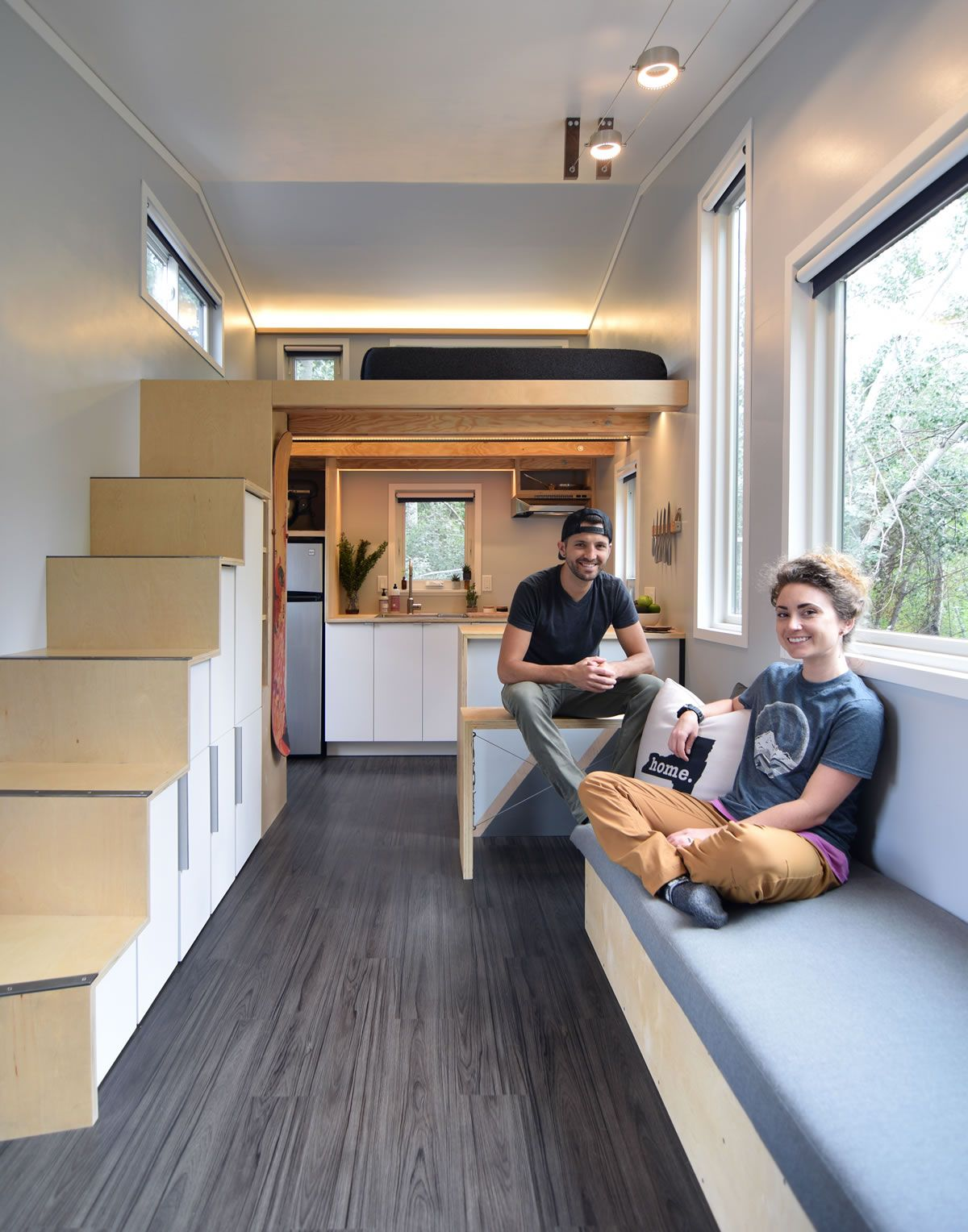 Modern Tiny House Interior: Samantha And Robert Built Their 24-foot 204 Square Foot