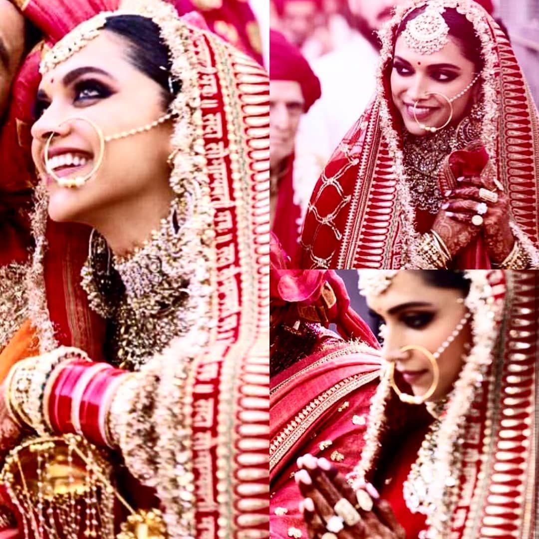 Soooo Beautiful Deepika Padukone As Indian Bride At Her Sindhi Indian Wedding Ceremony N Indian Wedding Bride Bollywood Wedding Indian Wedding Photography