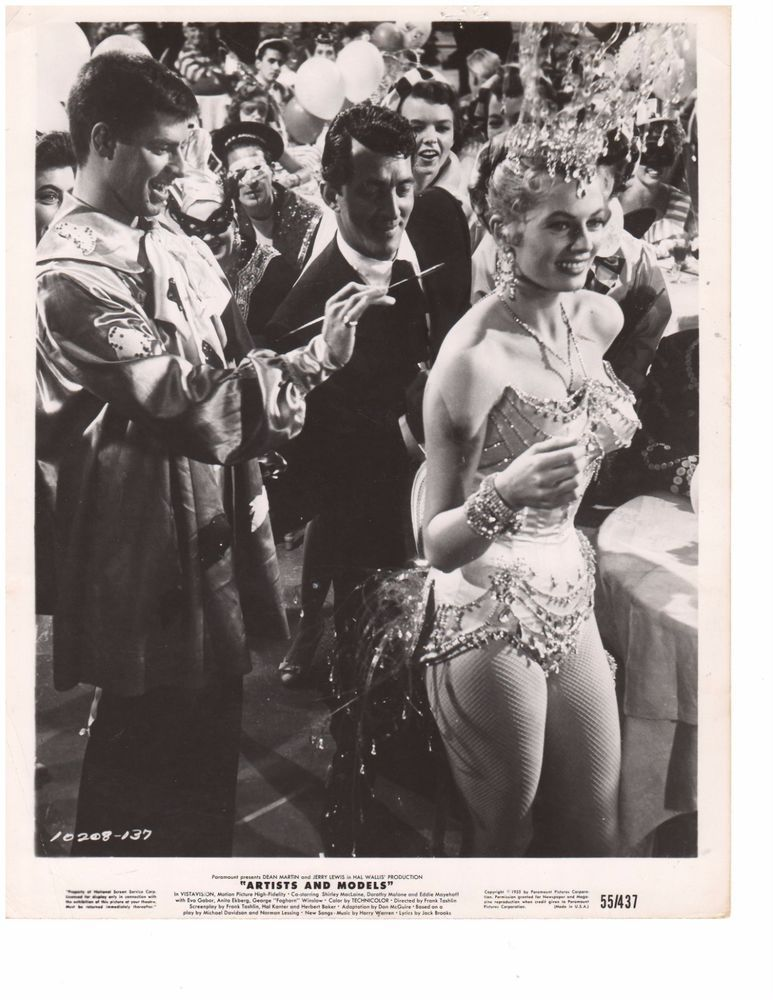 ARTISTS AND MODELS (1955) Dean Martin/Jerry Lewis/Eva Gabor orig photo  R271
