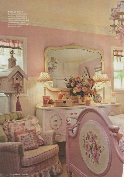 19+ Ideen Shabby Chic Vintage Schlafzimmer Romantisch