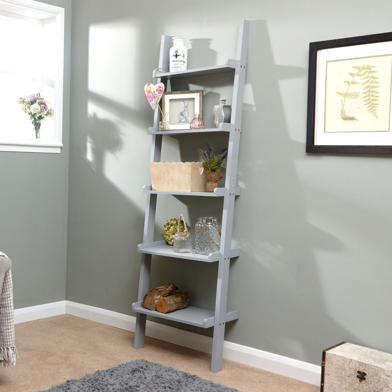 1c9ea399e253 Cyprus Ladder Bookcase – Next Day Delivery Cyprus Ladder Bookcase from  WorldStores: Everything For The