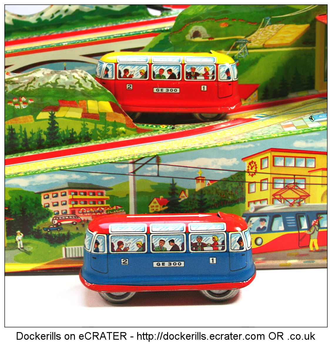 alpine express 300 technofix west germany picture 2 of 4 vintage tin litho tin plate toy. Black Bedroom Furniture Sets. Home Design Ideas