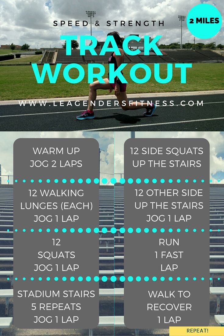 Workout Wednesday: Speed and Strength Track Workout for Runners — Lea Genders Fitness