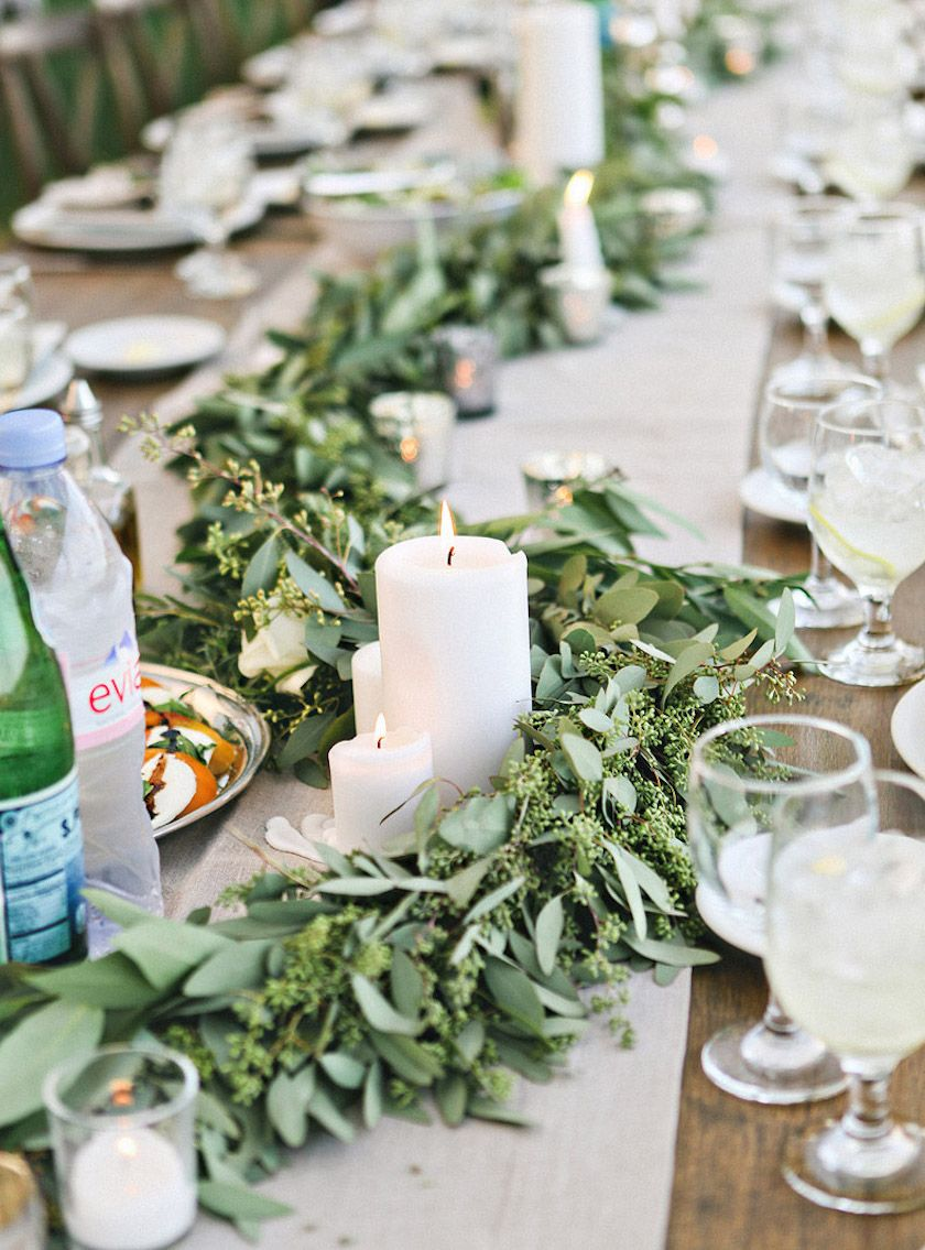 garland wedding table - Google Search
