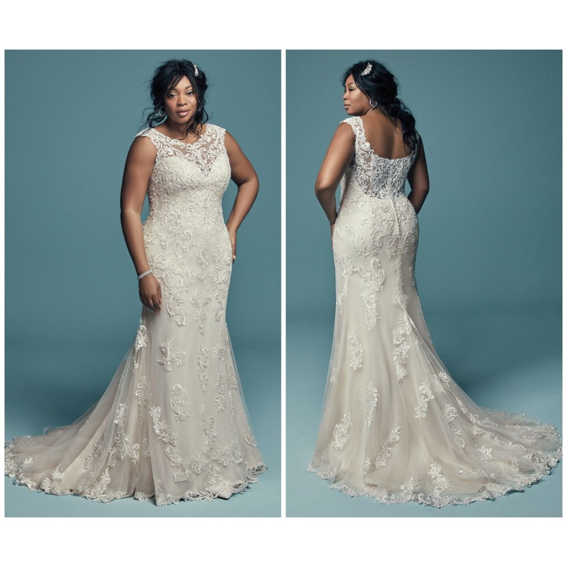 Size 22 wedding dress  Maggie Sottero  Size  in store  Plus Size Wedding Gowns All