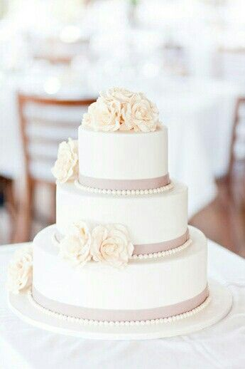 Pin by ciara shultz on wedding pinterest wedding cake cake and vintage rose wedding cake in white and cream with a dusty pink satin ribbon junglespirit Image collections