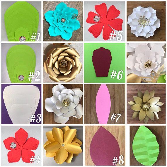 Plantillas de flores de papel gigante, tutorial de flores de papel paso a paso incluido #giantpaperflowers