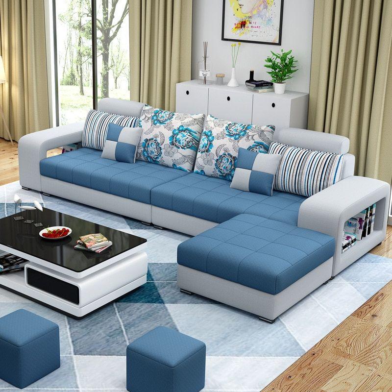 2239.98US $  Living Room Sofa Set Home Furniture Modern Cotton Fabric Solid Wood Frame Soft Sponge U Shape Custom OEM Home Furniture Set Living Room Sets    - AliExpress