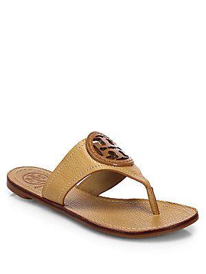f3e73a352cc Tory Burch Louisa Leather Thong Sandals
