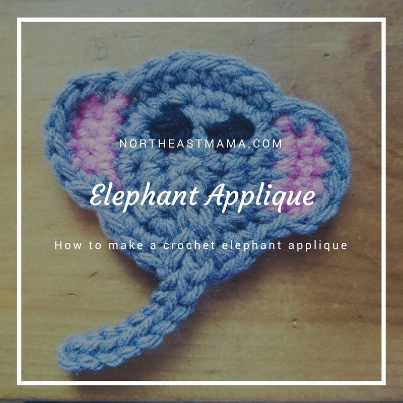 Elephant Applique Pattern Free Crochet Pattern Crochet Addict