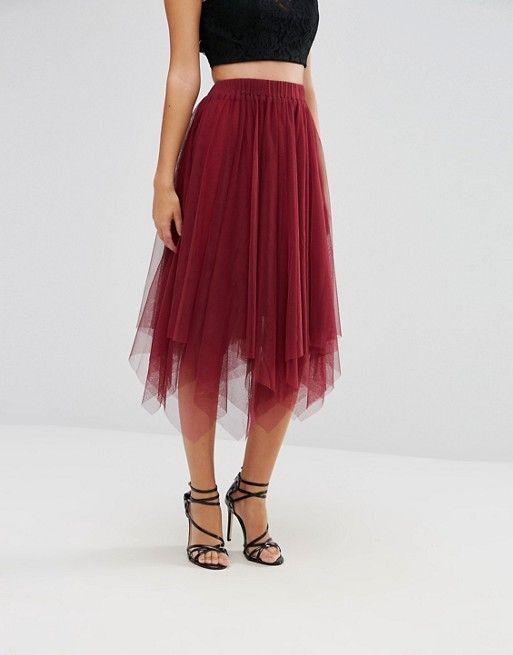 25661cbdf91bb0 Boohoo Layered Full Tulle Midi Skirt | look control | Midi skirt, Skirts,  Tulle