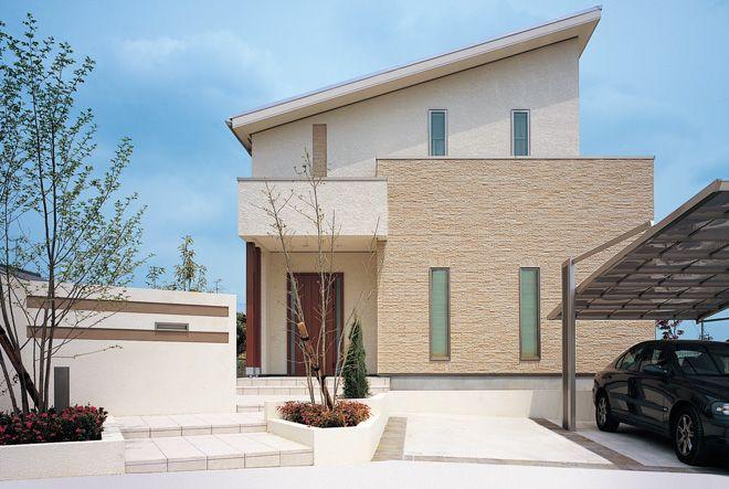 北欧外観 ツートン外観 北欧住宅 木製サッシ 木製窓