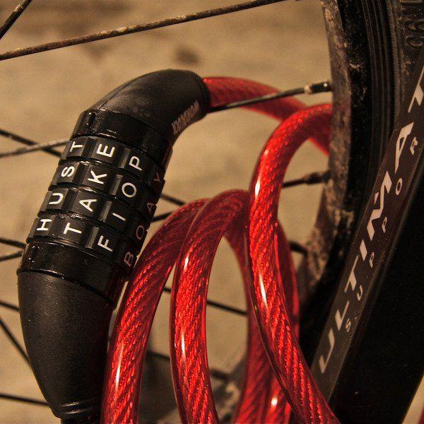 Wordlock Cable Bike Lock Gadget World Bike Bike Accessories