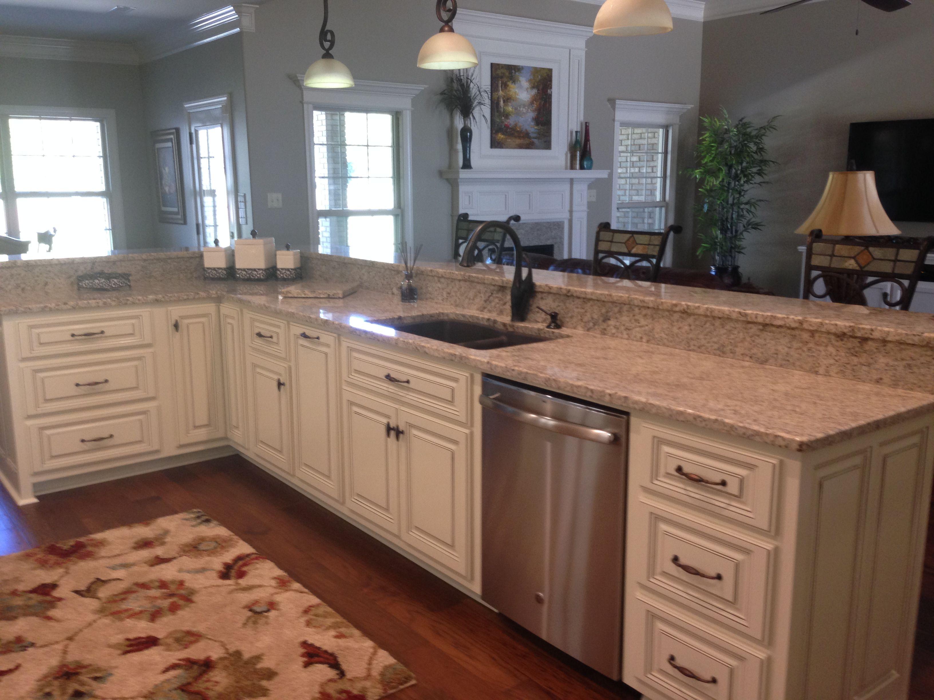 Designer Kitchen Bat Creative Countertop Designs Madison Al Soft Yellow 3cm Granite