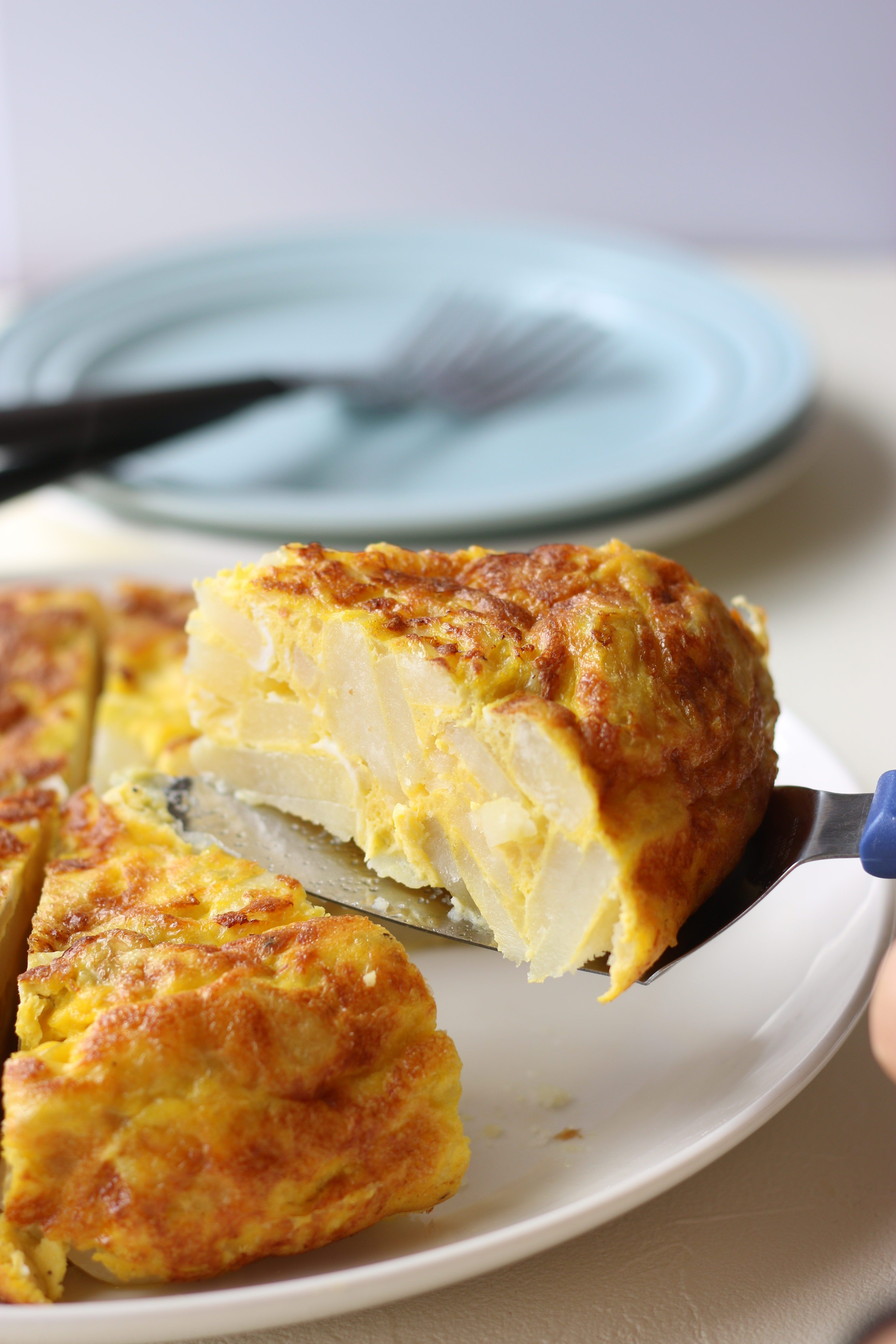 Simple and easy to make Spanish Omelette recipe. Only 4 ...