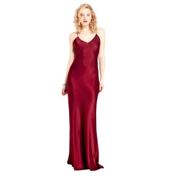ABS By Allen Schwartz V-Neck Slip Gown Worn once to a wedding. In ...