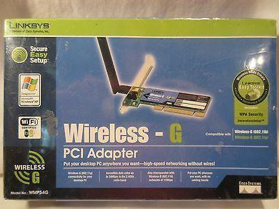 Linksys Wireless-G PCI Adapter - Model # WMP54G 2,4 GHZ New
