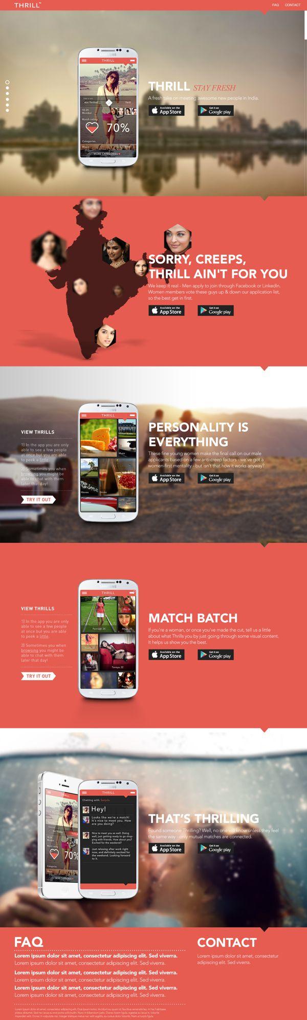 dating web design inspiration
