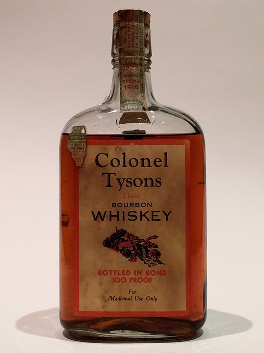 """Colonel Tyson's 1916/1923 This would have been from the original J.W. Dant distillery. Today the brand """"JW Dant"""" still exists but has nothing to do with its origins. 