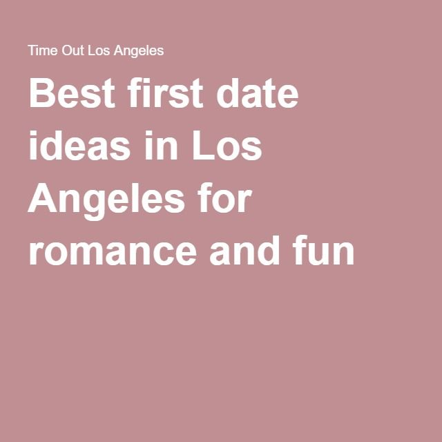 fun date ideas in la