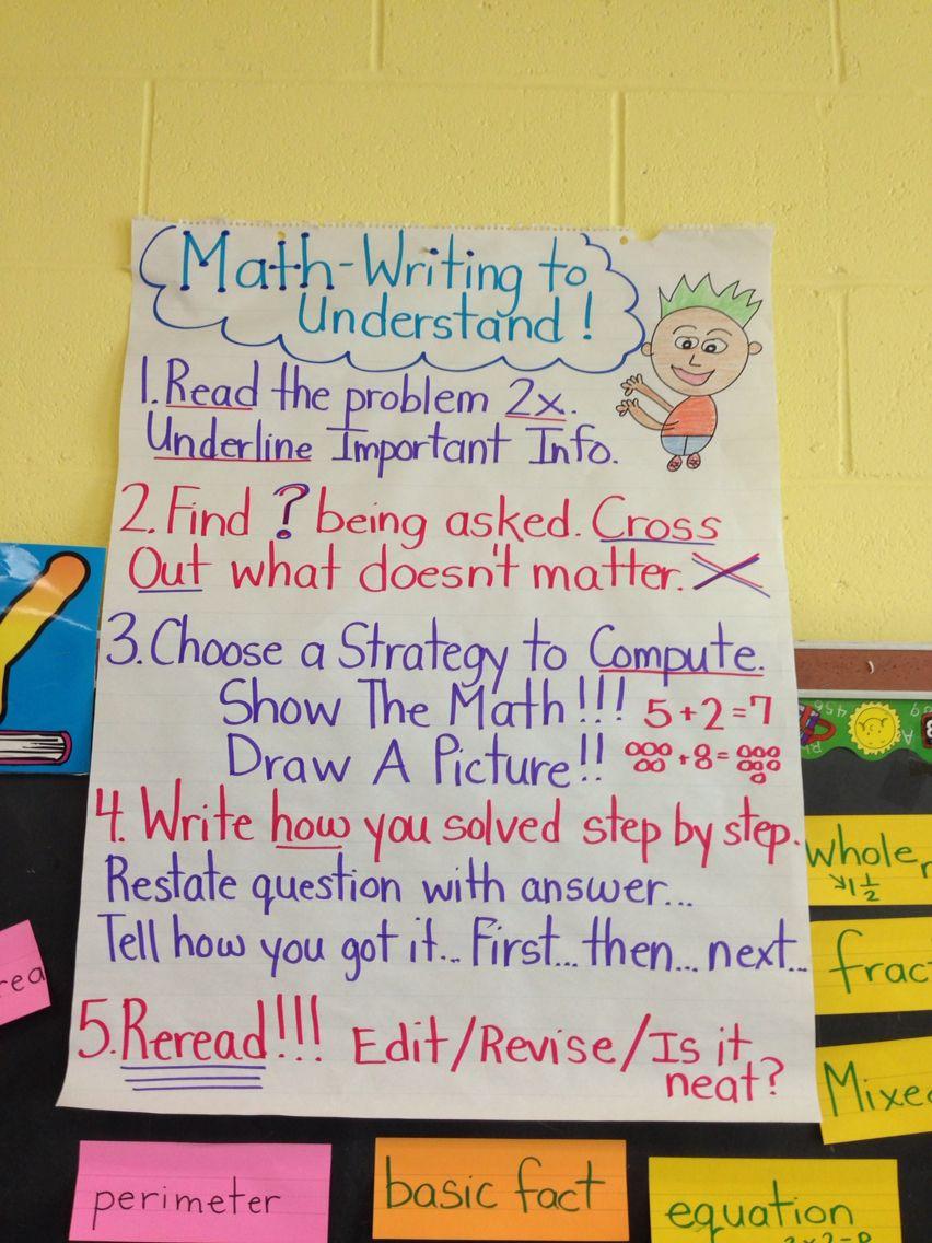 Math writing to understand Math writing, Math, Writing